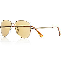 Boys gold aviator sunglasses