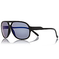 Boys black aviator sport sunglasses