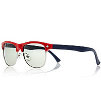 Boys red retro sunglasses