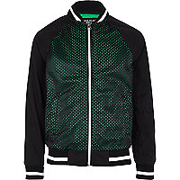 Boys black mesh bomber jacket
