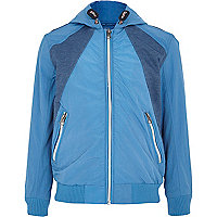 Boys blue sports bomber jacket