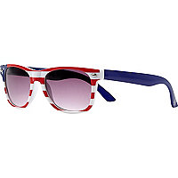 Boys american flag print retro sunglasses