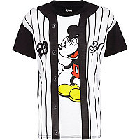 Boys white mickey mouse baseball t-shirt