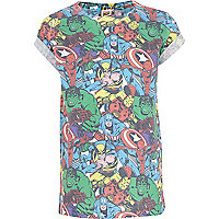 Boy white Marvel character print t-shirt