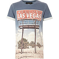 Boys white short sleeve las vegas t-shirt