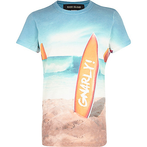 Boys white short sleeve gnarly surf t-shirt