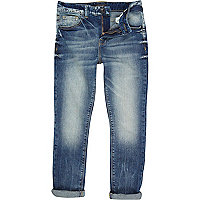 Boys medium denim super skinny worker jeans