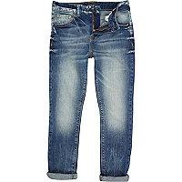 Boys medium denim super skinny worker jeans