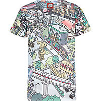 Boys ecru simpson short sleeved print t-shirt
