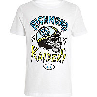Boys white Richmond Raider t-shirt