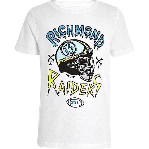Boys white Richmond Raider t-shirt