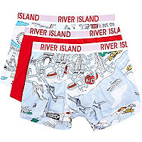 Boys white toy town 3 pack underwear