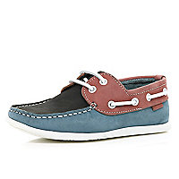 Boys Pink Boat Shoe
