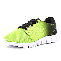 Kids green dip dye runner trainers