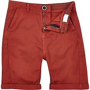 Boys rust chino shorts