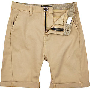 Boys tan chino shorts