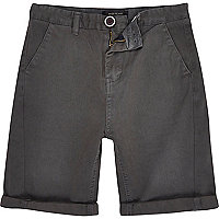 Boys grey chino shorts