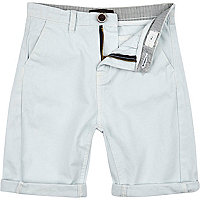 Boys pale blue chino shorts