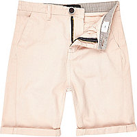 Boys pale pink chino shorts