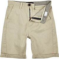 Boys stone chino shorts