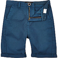 Boys midnight navy chino shorts