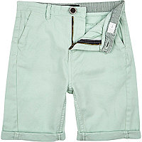 Boys mint green chino shorts