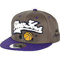 Boys grey New York basketball snapback hat