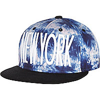 Boys blue tie dye New York snapback