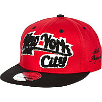Boys red New York City snapback hat