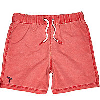 Boys red swim shorts