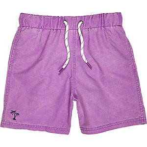 Boys Purple swim shorts