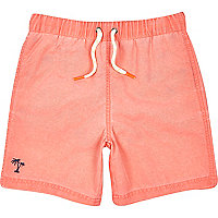 Boys orange swim shorts