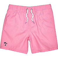 Boys bright pink swim shorts