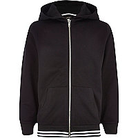 Boys black mesh hoody