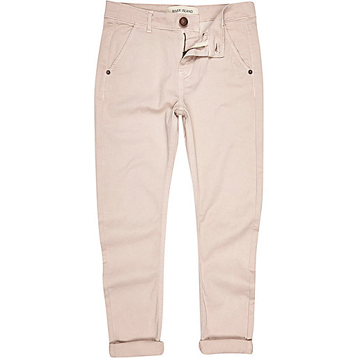 Boys pale pink chino trousers