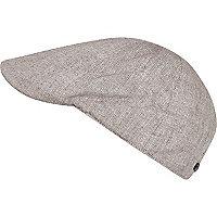 Boys beige flat cap