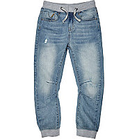 Boys light denim jogger jeans