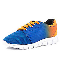 Kids orange dip dye runner trainers