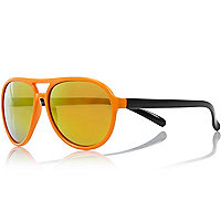 Boys orange sport aviator sunglasses
