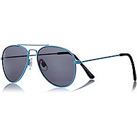 Boys blue metal aviator sunglasses