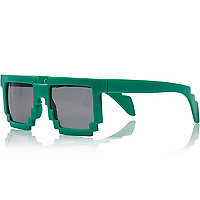 Boys green brick sunglasses