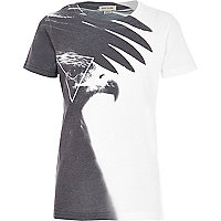 Boys white eagle t-shirt
