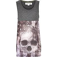 Boys grey skull print vest
