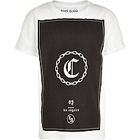 Boys white C chain t-shirt
