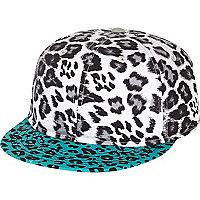 Boys grey leopard print snapback hat