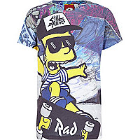 Boys Bart Simpson print skater t-shirt