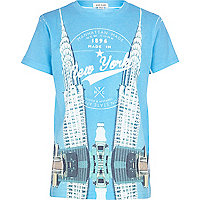 Boys blue Empire State mirror t-shirt