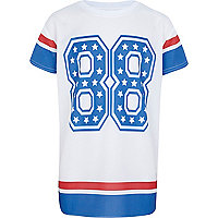 Boys white and blue 88 mesh t-shirt