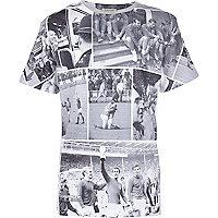 Boys mono England postcard print t-shirt