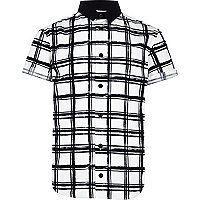 Boys white check shirt